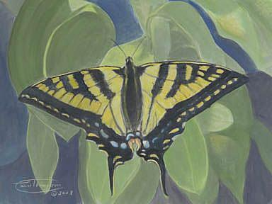 Art: At Ease Among The Leaves by Artist Carol Thompson