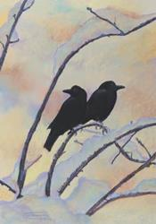 Art: Snowy Morn by Artist Carol Thompson