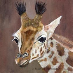 Art: Giraffe by Artist Janet M Graham