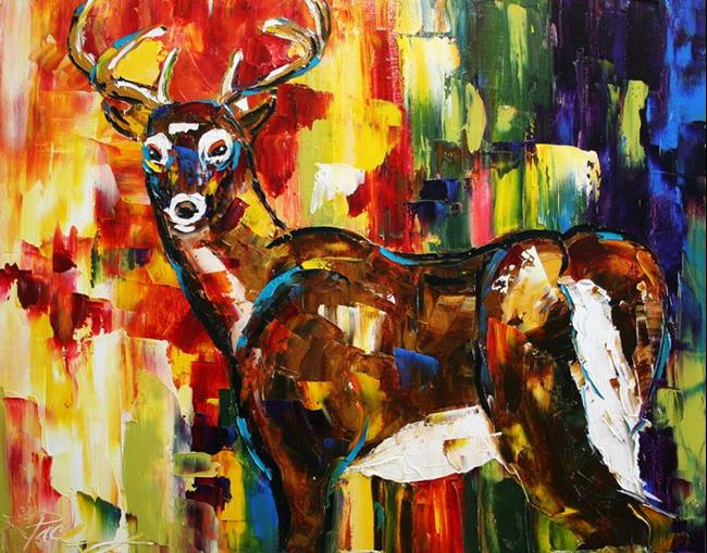 Art: White Tail Buck 2 by Artist Laurie Justus Pace