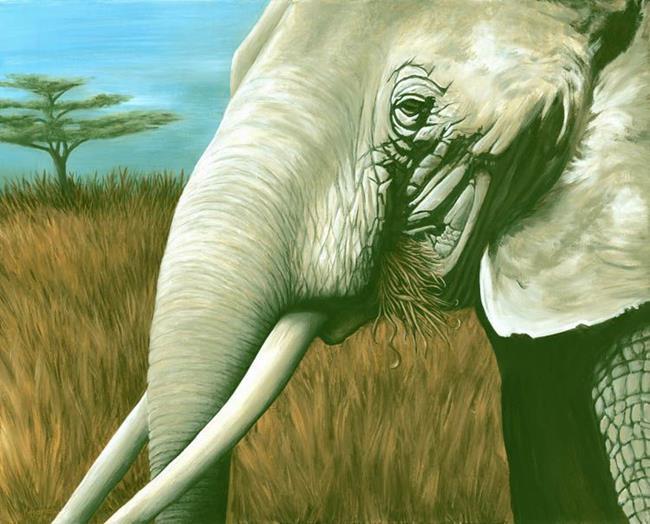 Art: Ivory Heat by Artist Kate M Ramos