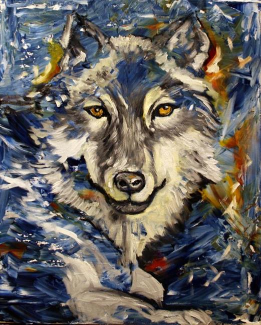Art: Arctic Wolf by Artist Laurie Justus Pace