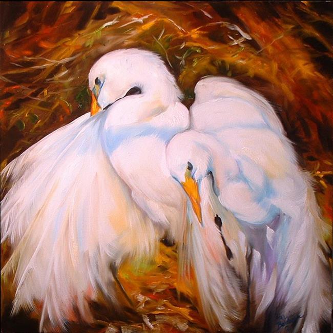 Art: GREAT WHITE EGRETS by Artist Marcia Baldwin