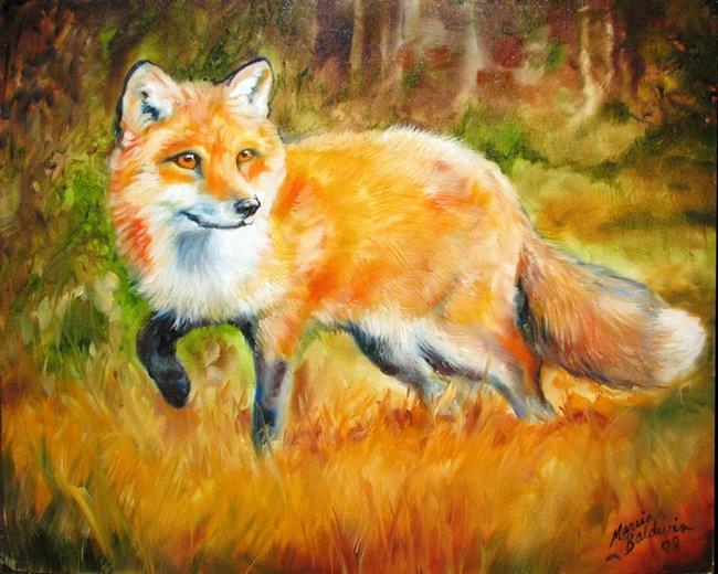 Art: LITTLE RED FOX by Artist Marcia Baldwin