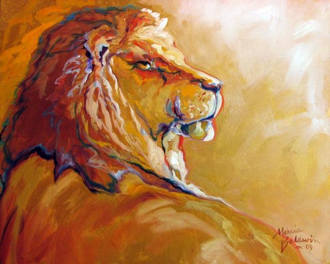 Art: THE KING by Artist Marcia Baldwin