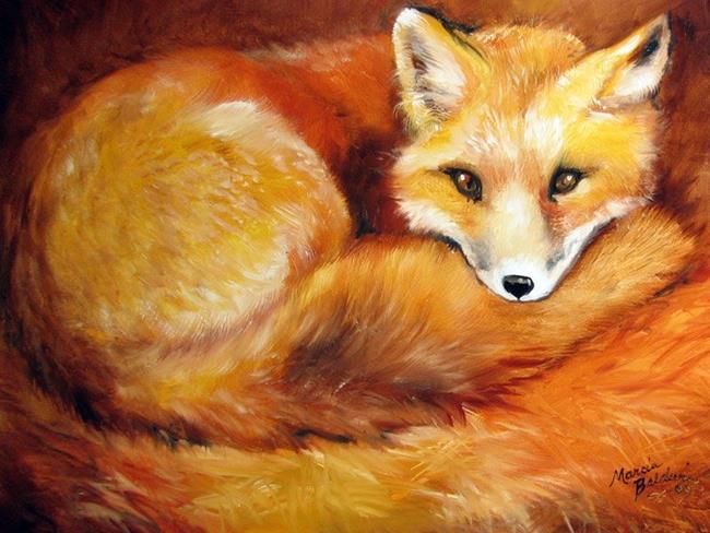Art Red Fox Den By Artist Marcia Baldwin