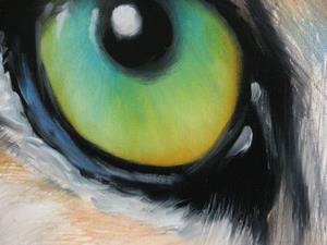 Detail Image for art SNOW LEOPARD EYES