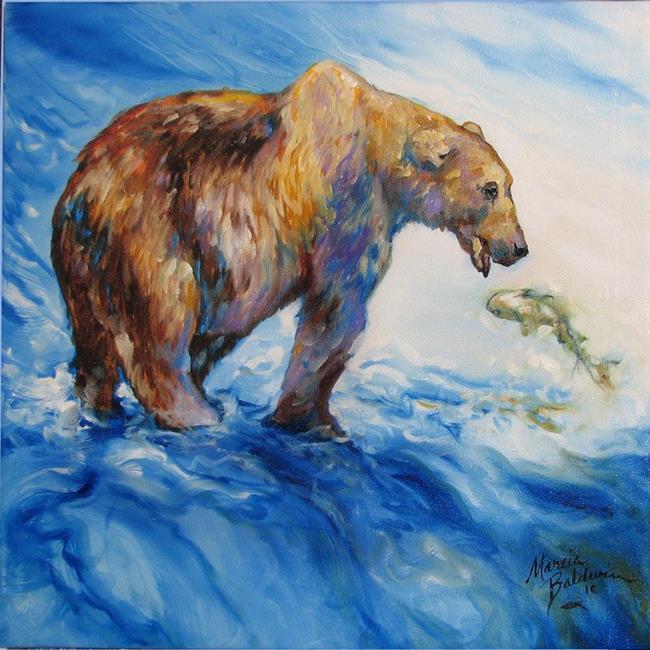 Art: BEAR CATCH by Artist Marcia Baldwin
