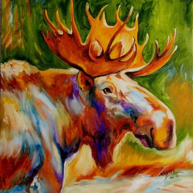 Art: MOOSE STUDY by Artist Marcia Baldwin