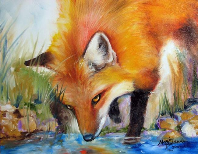 Art: CAPTIVATED RED FOX by Artist Marcia Baldwin