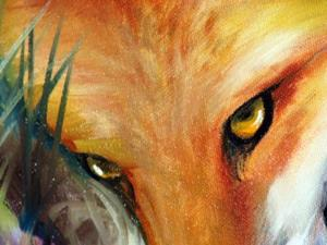 Detail Image for art CAPTIVATED RED FOX