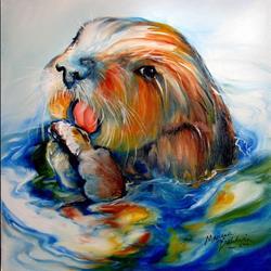 Art: SEA OTTER II by Artist Marcia Baldwin