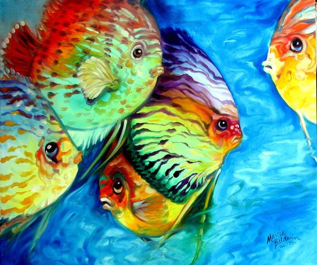 Art: TROPICAL FISH COLORS by Artist Marcia Baldwin