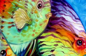 Detail Image for art TROPICAL FISH COLORS