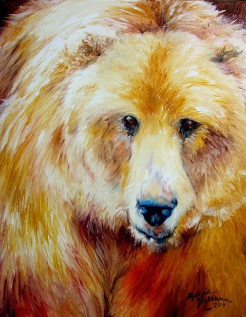 Art: GRIZZLY ENCOUNTER by Artist Marcia Baldwin