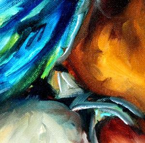 Detail Image for art AZURE BLUE PARROT ABSTRACT
