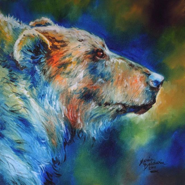 Bear abstract 18 by marcia baldwin from wildlife for Abstract animal paintings