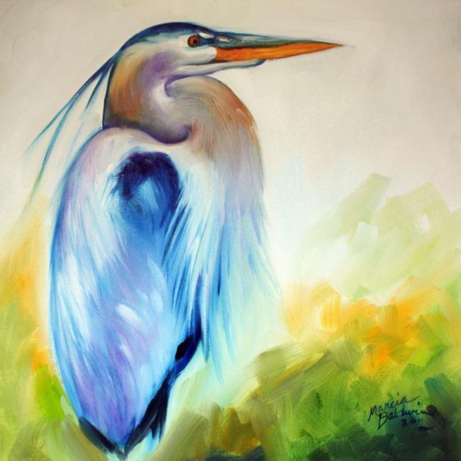 Art: BLUE HERON ONE by Artist Marcia Baldwin