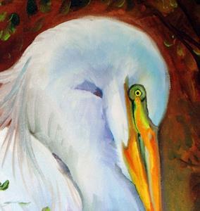 Detail Image for art WHITE EGRET SOLITUDE
