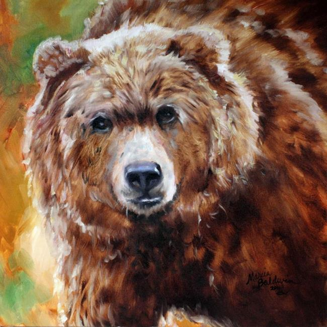 Grizzly Bear Art grizzly bear stance - by marcia baldwin from wildlife