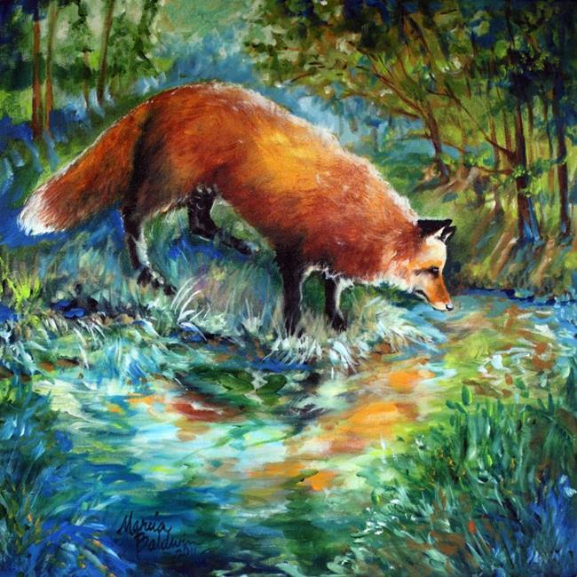Art: RED FOX FAVORITE SPOT by Artist Marcia Baldwin