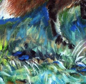 Detail Image for art RED FOX FAVORITE SPOT