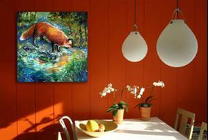 Detail Image for art RED FOX FAVORITE SPOT