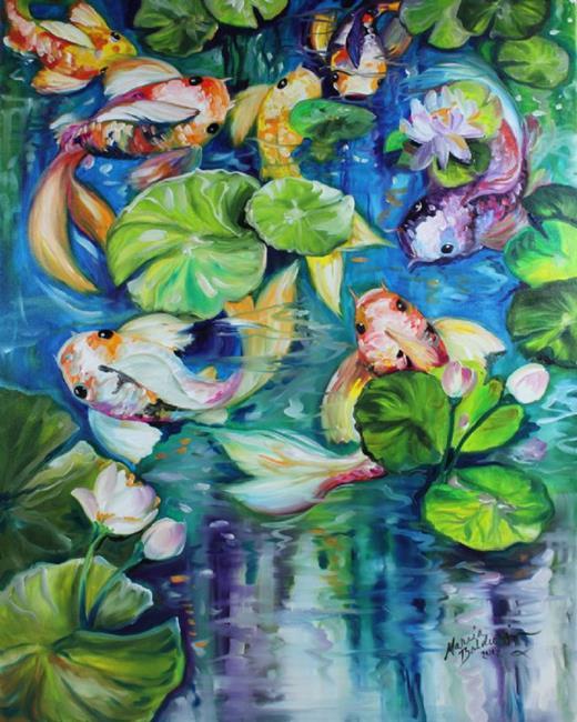 Art: SEVENS HEAVEN KOI by Artist Marcia Baldwin