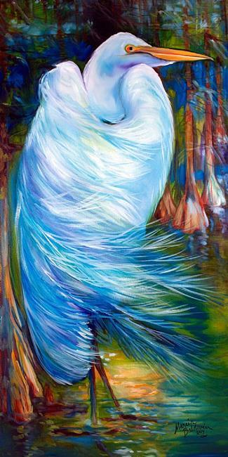 Art: GREAT WHITE EGRET 2013 by Artist Marcia Baldwin