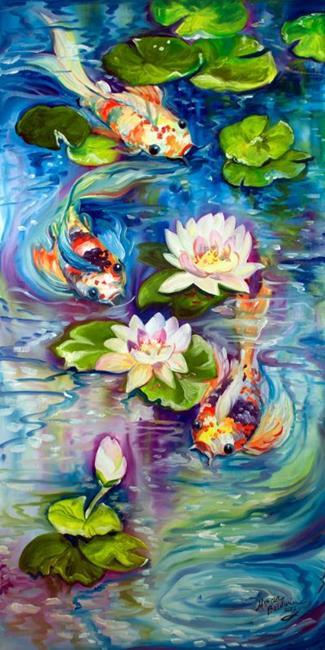 Art: KOI & FRIENDS by Artist Marcia Baldwin
