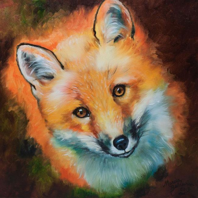 Art: CURIOUS RED FOX by Artist Marcia Baldwin