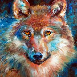 Art: TIMBER WOLF ABSTRACT by Artist Marcia Baldwin