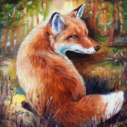 Art: RED FOX ROWDY by Artist Marcia Baldwin