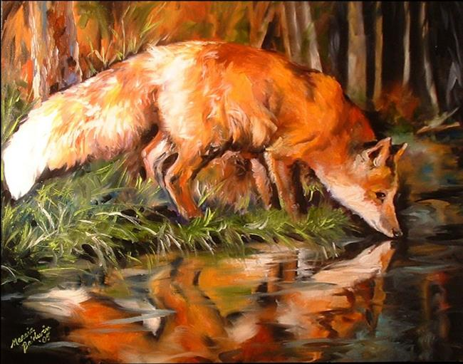 Art: EVENING FOX by Artist Marcia Baldwin