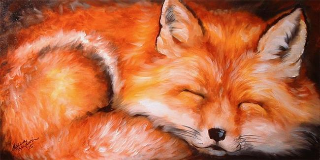 Art: SLEEPING FOX by Artist Marcia Baldwin