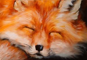 Detail Image for art SLEEPING FOX