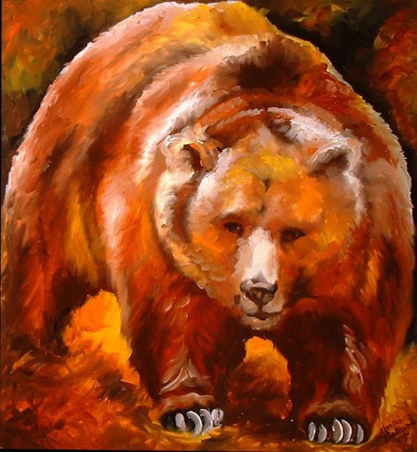 ... oil painting by m baldwin c2005 this painting grizzly bear is a brand