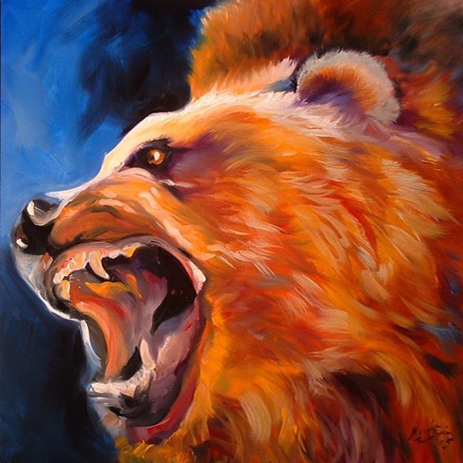 Art: GRRRIZZLY by Artist Marcia Baldwin