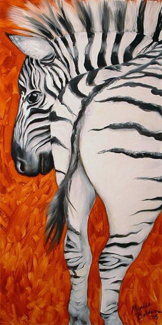 Art: ZEBRA by Artist Marcia Baldwin