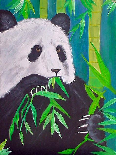 Art: Panda Lunch by Artist Dia Spriggs
