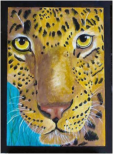 Art: Nairobi Leopard by Artist Dia Spriggs