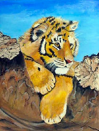 Art: Tiger Cub by Artist Dia Spriggs