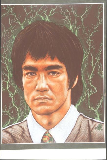 Art: MASTER BRUCE LEE by Artist William Powell Brukner