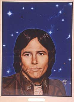 Art: RICHARD HATCH as Captain Apollo. by Artist William Powell Brukner