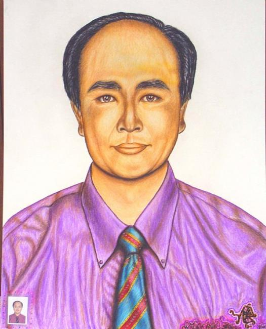 Art: Dr. Charles Chen. by Artist William Powell Brukner