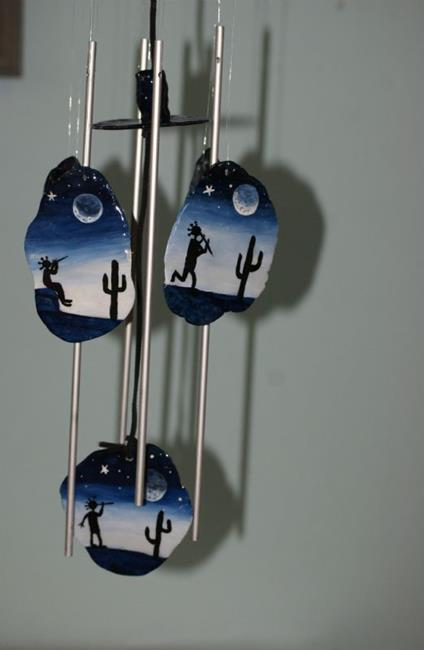 Art: Honor Mother Moon--Wind Chime by Artist Kathy Hatt