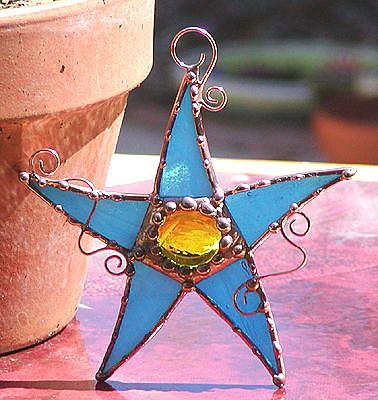 Art: Oh My Stars Blue and yellow by Artist Dianne McGhee