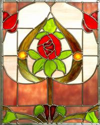 Art: Nouveau Rose Tree by Artist Dawn Lee Thompson