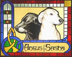 Art: Angus and Sasha by Artist Dawn Lee Thompson