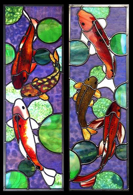 Art: Koi Diptych by Artist Dawn Lee Thompson